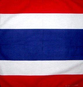 Wholesale lot 12 flag of Thailand Thai bandanas new