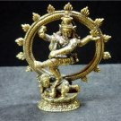 Hindu god Shiva Nataraja dance Nataraj trance brass figurine 2.5 x 3 in. FREE WORLDWIDE DELIVERY!