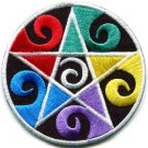 Wiccan pentagram pentacle wicca witchcraft applique iron-on patch S-1057 WORLDWIDE DELIVERY IS FREE!