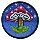 Mushroom retro 70's hippie love peace weed applique iron-on patch new T-22