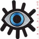 Eye eyeball tattoo wicca occult BIG 5 X 6 in. applique iron-on patch S-1045 FREE SHIPPING WORLDWIDE!