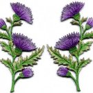 Lavender carnation spray pair flowers applique iron-on patches S-1149 WE SHIP ANYWHERE FOR FREE!