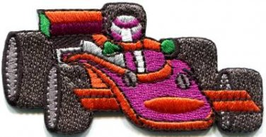 Sports car racing race formula one 1 retro applique iron-on patch S-1108 WORLDWIDE DELIVERY IS FREE!