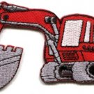 Excavator backhoe tractor loader bulldozer applique iron-on patch S-42 WE SHIP ANYWHERE FOR FREE!