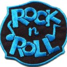 Rock n Roll biker retro slogan rockabilly applique iron-on patch S-1117 FREE SHIPPING WORLDWIDE!