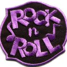 Rock n Roll biker retro slogan rockabilly applique iron-on patch S-1112 WE SHIP ANYWHERE FOR FREE!