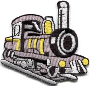 Train engine choo choo railroad retro applique iron-on patch S-320 WE SHIP ANYWHERE FOR FREE!