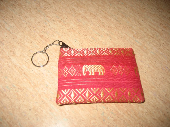 Red elephant design wallet