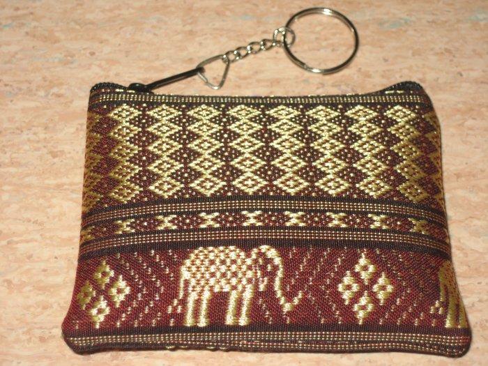 brown elephant design wallet
