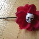 Mini Red Skulleez Hair Clip