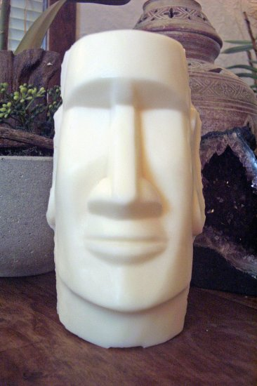 Statue Candles-Easter Island Figure