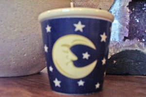 Votive Candle Holder-Celestial Moon & Stars