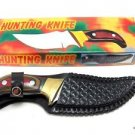 Hunting Skinning Knife Multi Colored Rosewood Handle