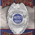 Real Heroes Police Refrigerator Ice Box Magnet