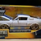 1967 Shelby GT-500 Bigtime Muscle Jada 1:24 Scale Diecast White Blue