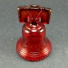 Joe St. Clair Glass Art Liberty Bell Red