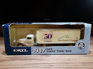AHL American Highway Legends Mack Model BM with Double Pups Wonder Bread 1:64