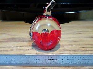 Apple Paperweight Glass Art Joe St Clair