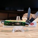 Case XX Pocket Worn Peanut Bermuda Green Bone Pocket Knife