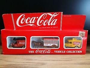 Vintage Lledo Coca Cola Diecast Vehicle Collection Set of 3