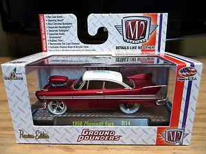 M2 Machines 1958 Plymouth Fury Ground Pounders R14 1:64 Diecast