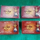 Hard Rock Cafe Icon Guitar Giveaway Pin Lot of 4