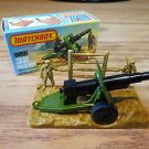 Matchbox Field Gun with Base and 2 Soldiers #32