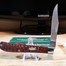 Case XX Slimline Trapper Jigged Brown Barehead Pocket Knife