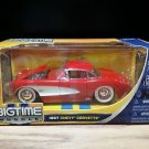 1957 Chevrolet Corvette Bigtime Muscle Jada 1:24 Scale Diecast Red