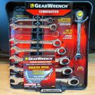 GearWrench Ratcheting Combination Wrench Set 8 Piece SAE