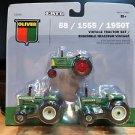Ertl Oliver 88 - 1555 - 1950T Vintage Tractor Set of 3 1:64 Diecast