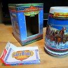 Budweiser Holiday Ceramic Stein Mug 2002 with COA