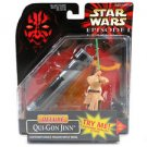 Star Wars Episode 1 Deluxe Qui-Gon Jinn figure and Lightsaber