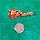Hard Rock Cafe San Francisco Red Gretsch Eddie Cochran Guitar Pin