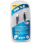 Fellowes 99466 10' USB 2.0 A to B Cable (Black)