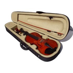 Natural color  Violin + Bow + Case + Rosin Complete Set