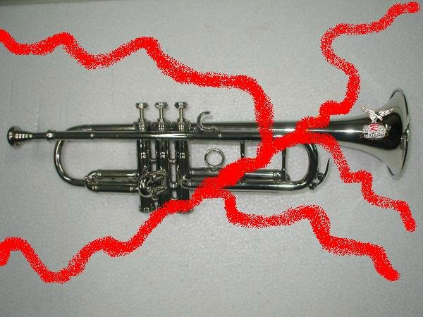 New Silver Bb Trumpet w Case