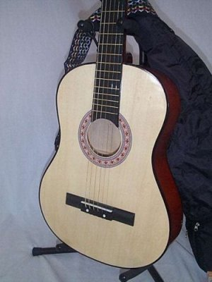 "38"" Natural Guitar with Carrying Bag and Accessories"