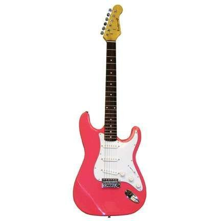 39 Inch Pink Electric Guitar with Carrying Bag and Accessories