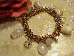 Gold Pearl Beaded Bracelet-25333