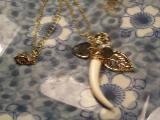 Gold Ivory Charm Necklace-25332