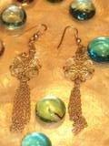 Filigree dangling earrings-51693
