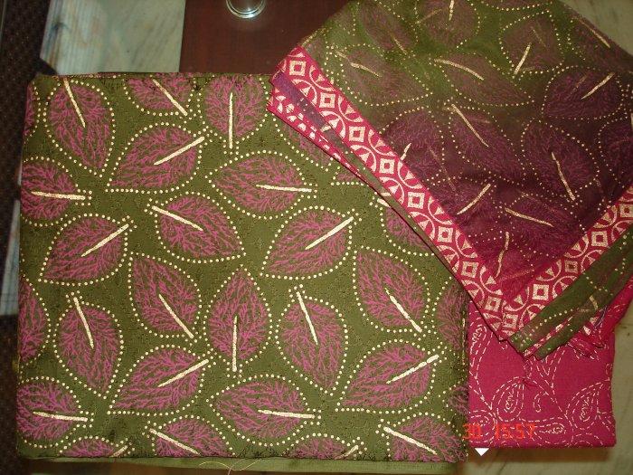 T-296: Salwar Kameez Printed Cotton Fabric