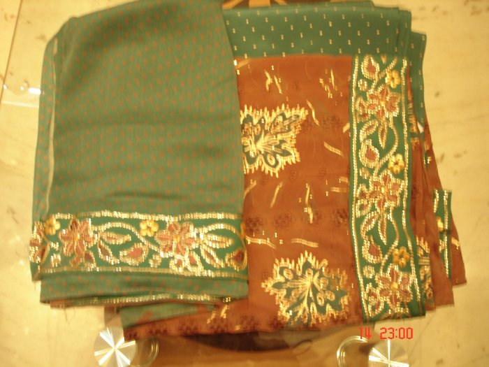 T-459: Crepe Salwar Kameez with heavy Sequence work border