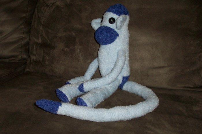 Beau the Blue Sock Monkey