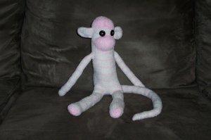 Shasta the Striped Sock Monkey
