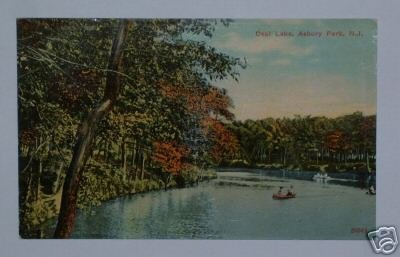 C1 Vintage Postcard 1912 Deal Lake Asbury Park NJ 24041
