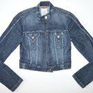 M808 Women's jean jacket SEE THRU SOUL Size XS