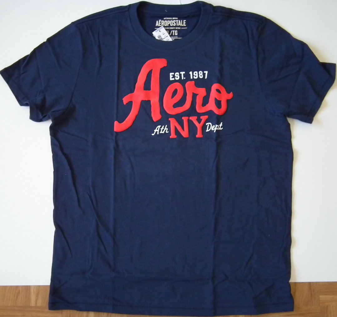 J311 New Men's T-shirt AEROPOSTALE Size L Navy