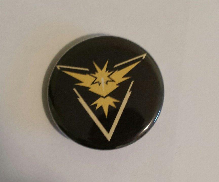"1.25"" Pinback Button Badge Pokemon Go Teams Instinct 1.25"" (Aprox. 32mm) 'Buy 2 Get 1 Free'"